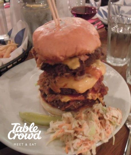 The Devastator Burger. Can you eat this in ten minutes?