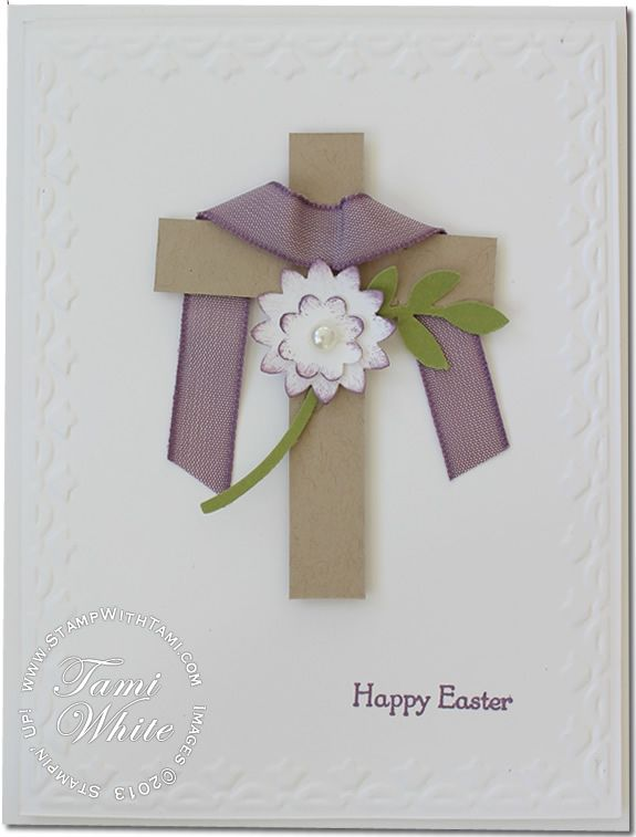 VIDEO TUTORIAL: Easter Cross Card | Stampin Up Demonstrator - Tami White - Stamp With Tami Stampin Up blog