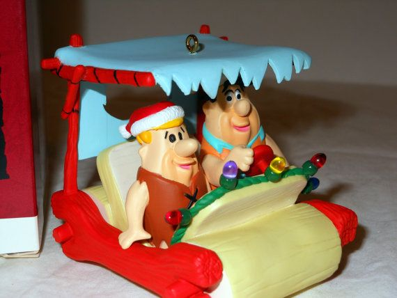 THE FLINSTONES Fred and Barney Christmas Ornament by LootByLouise, $18.95