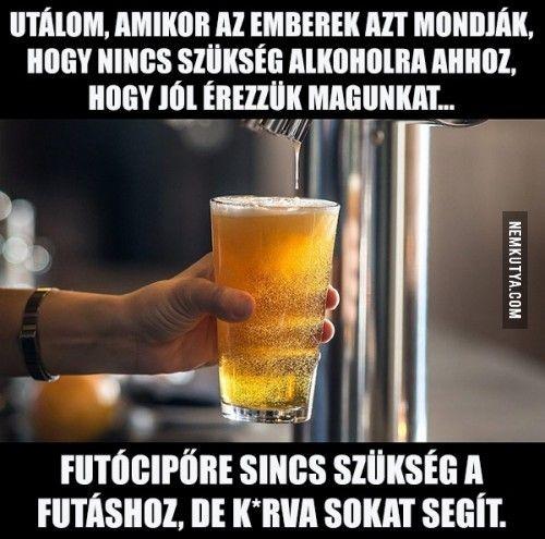 Utálom, amikor az emberek azt mondják, hogy nincs szükség alkoholra... :)