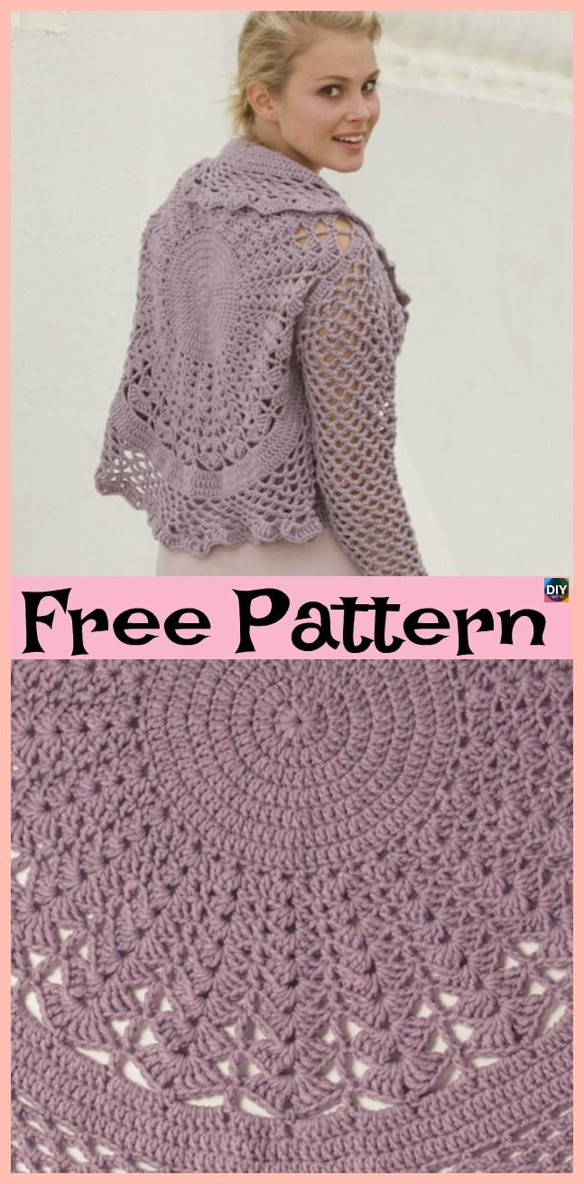 15 Unique Crochet Circular Jacket Free Patterns Luv To Crochet