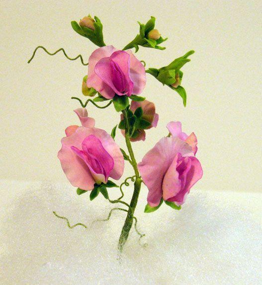gumpaste flores - guisantes de olor:?