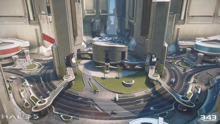 """Halo 5: Guardians DLC """"Battle of Noctus"""", Tim Diaz on ArtStation at https://www.artstation.com/artwork/yAzdR"""