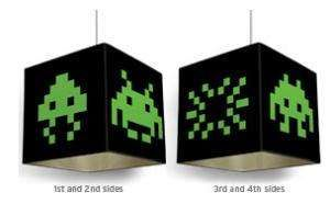 Space Invader Light Shades - Game Room Decor
