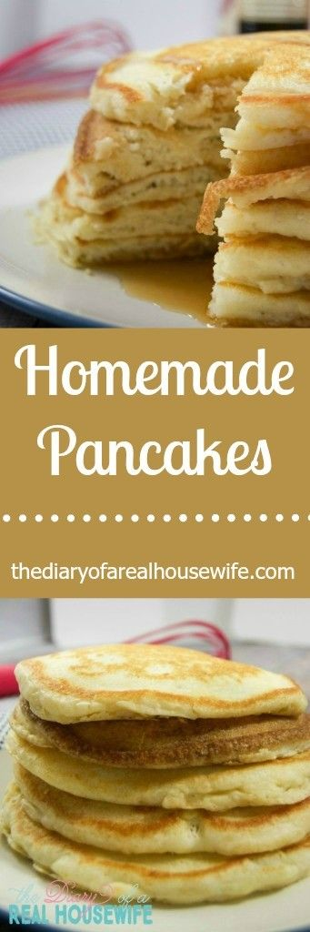 Homemade Pancakes. I have to say I think it is just as easy if not easier to make your pancakes homemade! I never buy the store bought because I already have the ingredients to make homemade. TRY THEM!