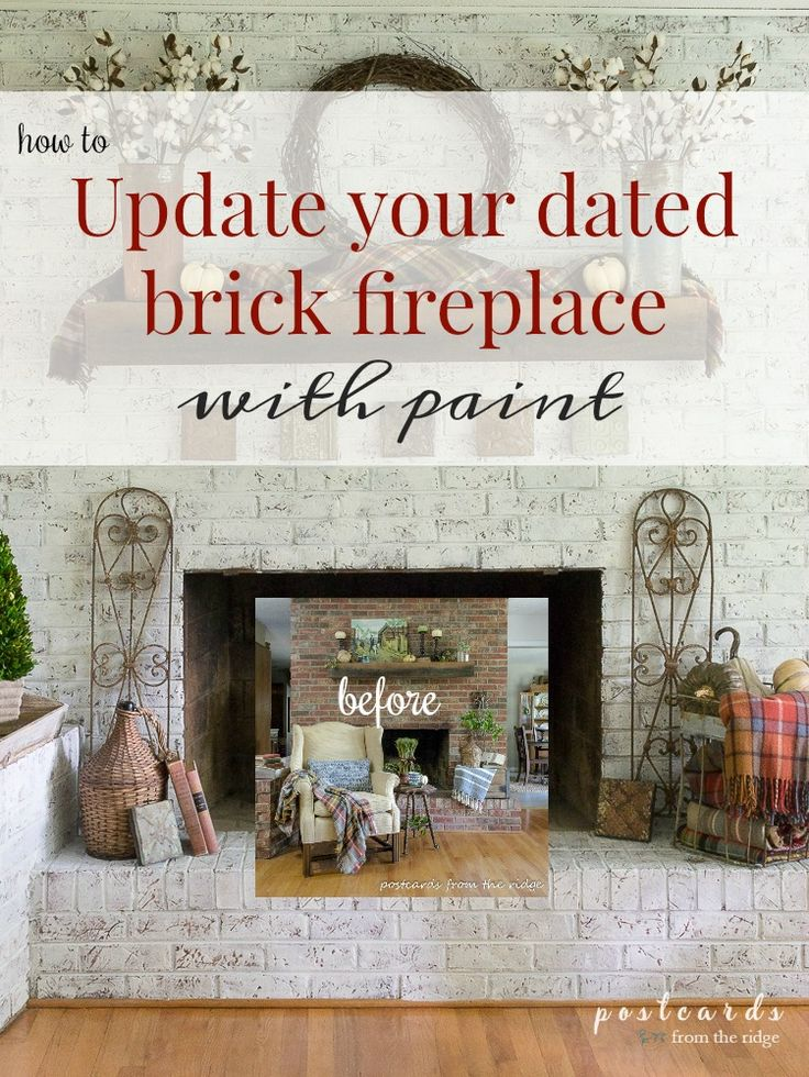 How to paint a brick fireplace with a technique that gives it a French country farmhouse look. Very similar to the German smear style.