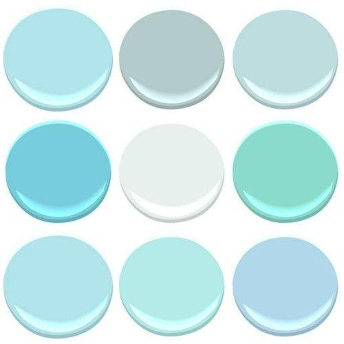 All benjamin moore blue seafoam gossamer blue glacier for Seafoam blue paint color