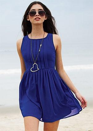 beachy perfectionBeach Dresses, Summer Dresses, Blue Dresses, Cobalt Blue, Pleated Front, The Dresses, Bold Colors, Front Dresses, Dreams Closets