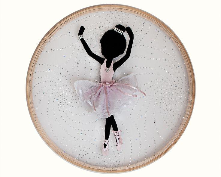 Quadro Bailarina Fundo Translucido 003   Atelier Iza Bugay Tiaras e Faixas para Bebês   Elo7