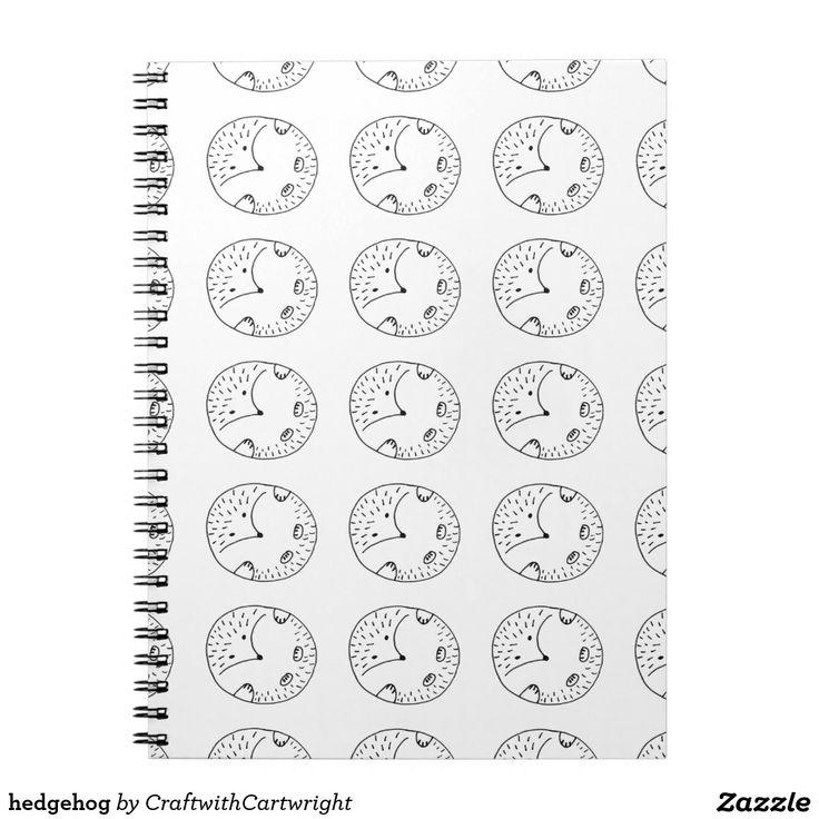 Just sold! hedgehog spiral notebook £9.60