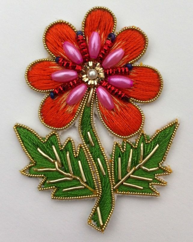 Embroidered Flower Motif