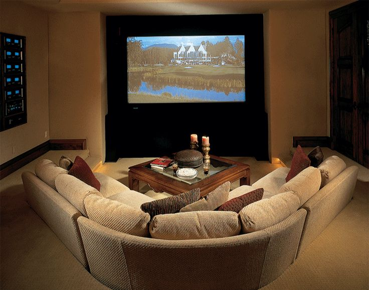 lower level pit designed to fit an l shaped sectional with space home theater designtheatre