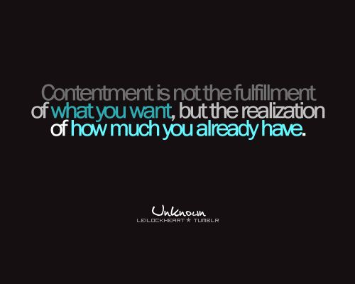 contentment.Amen, Quotes Sayings