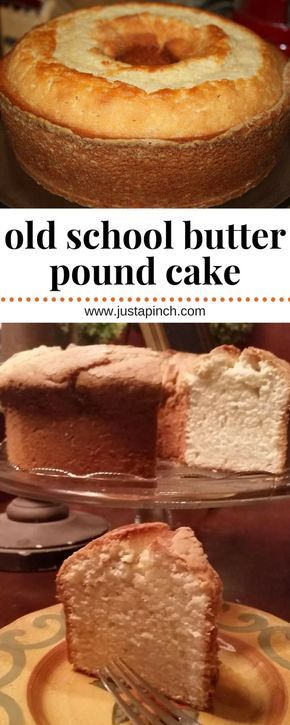 The best old school butter pound cake recipe there is! Ready in just 6 steps, this is an easy dessert recipe sure to please. #dessert #easyrecipe