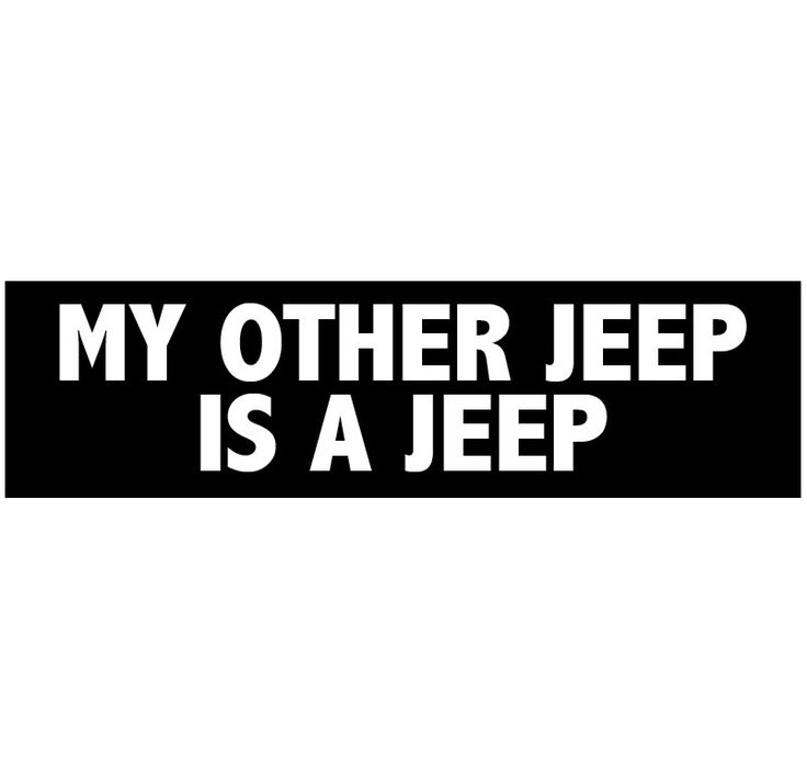 My Other Jeep is a Jeep Decal Vinyl or Magnet Bumper Sticker by StickitDog on Etsy https://www.etsy.com/listing/231579121/my-other-jeep-is-a-jeep-decal-vinyl-or