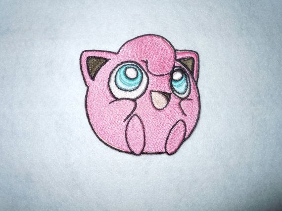 Large Jigglypuff Pokemon Patch by LittleWolfStudios on Etsy