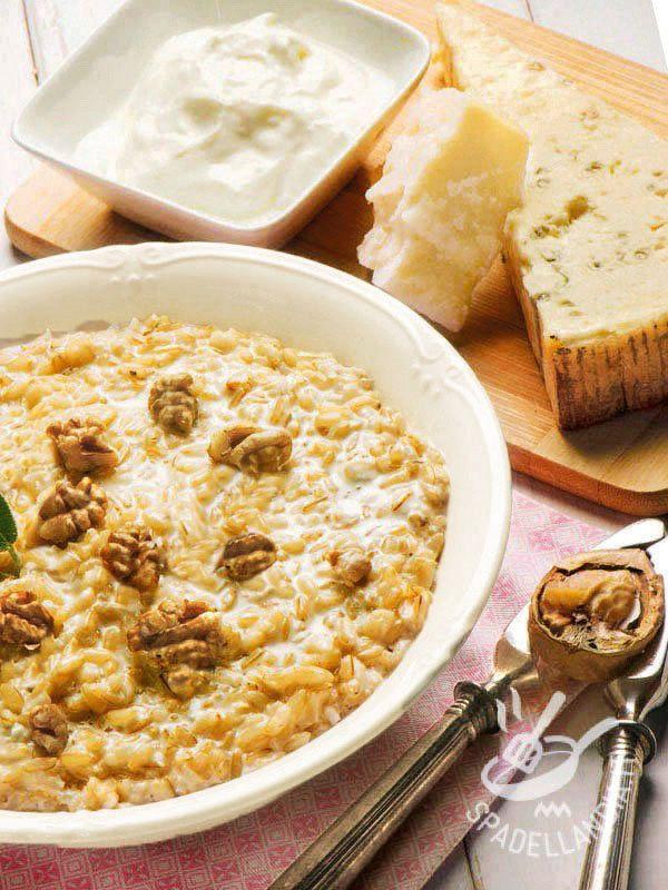 Robiola, parmigiano e gorgonzola uniti alle noci per un vero tripudio di sapori. Morbido, cremoso e delicatissimo, è ideale per un surplus di energia.