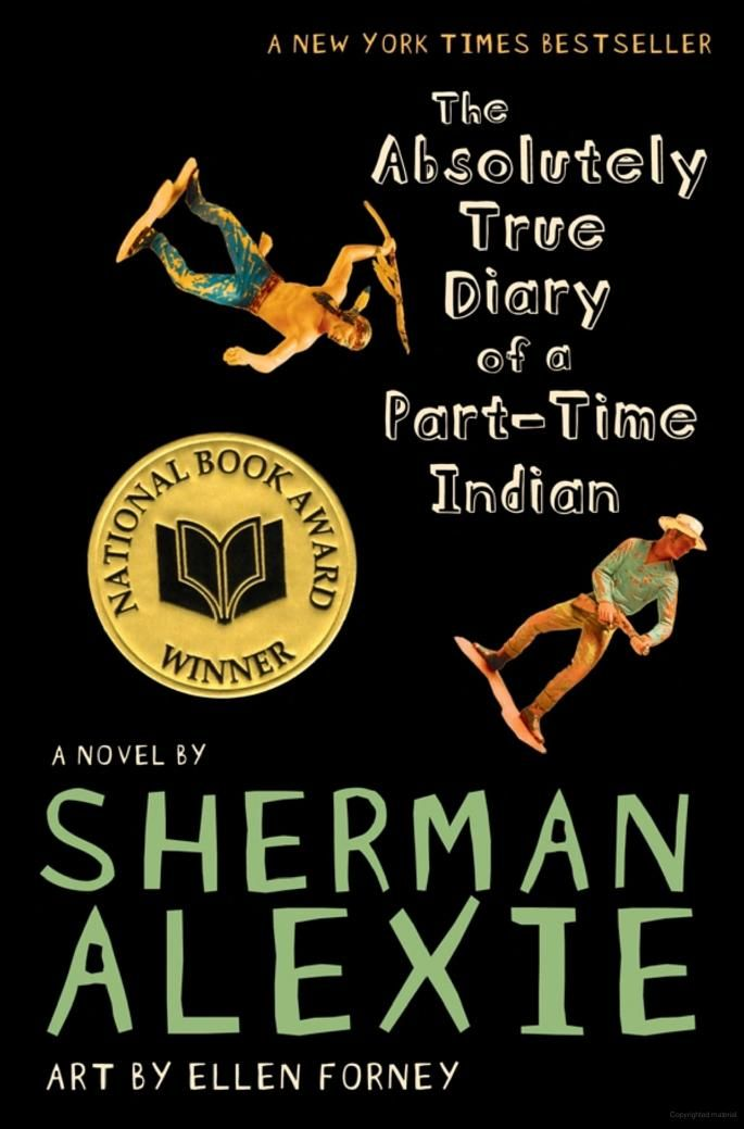 The Absolutely True Diary of a Part-Time Indian by Sherman Alexie | The top ten most frequently challenged books of 2014