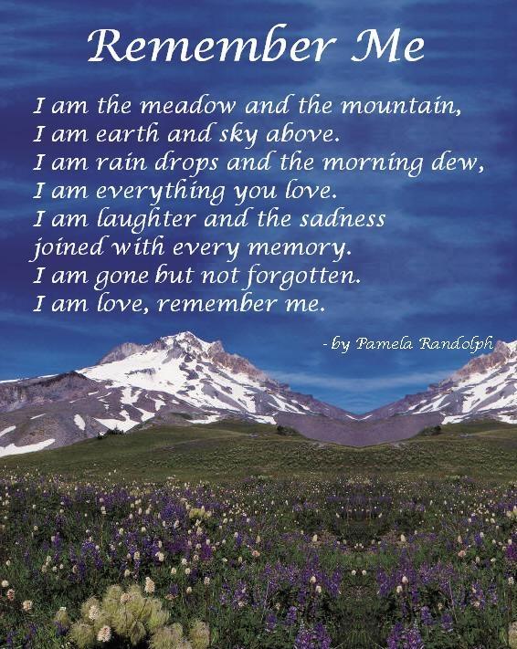 Remember Me - original poem by Pamela Randolph (Arizona ...