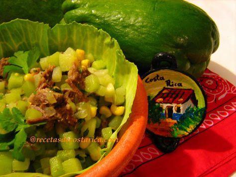 Cocina Costarricense: picadillo de chayote y maíz
