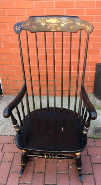 Ethan Allen Rocking Chair Rocker Stenciled Solid Maple Birch Ebay Rocking Chair Chair Maple Furniture