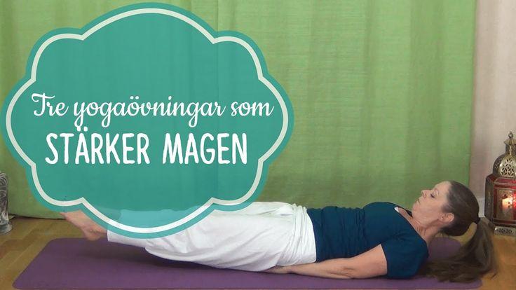 Tre yogaövningar för att stärka magmusklerna