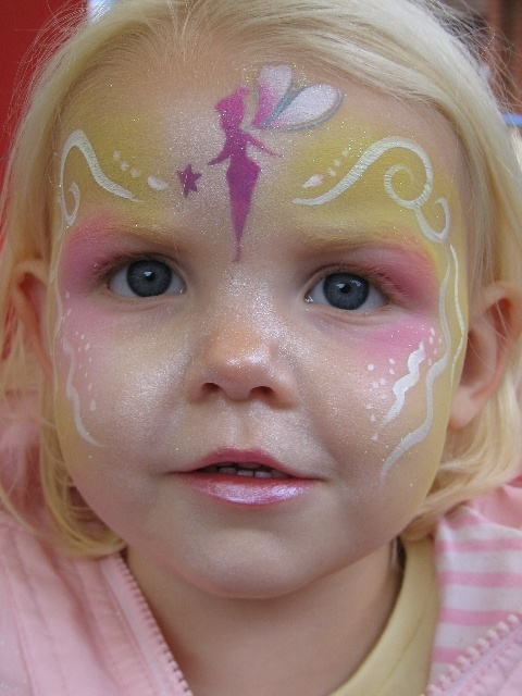 Tinkerbell face painting model face painting for Fairy painting easy