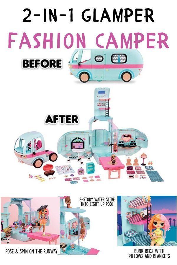 Surprises Car Slide Fun Gift Set LOL Surprise Doll Glamper Fashion Camper 55