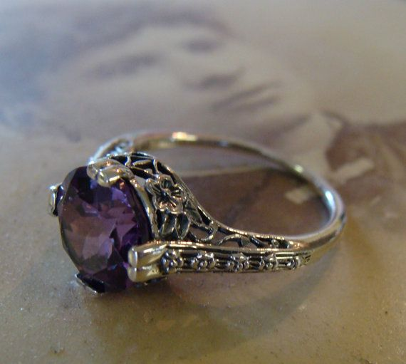 Alexandrite Sterling Silver Antique. Omg please please please! I love this so much!
