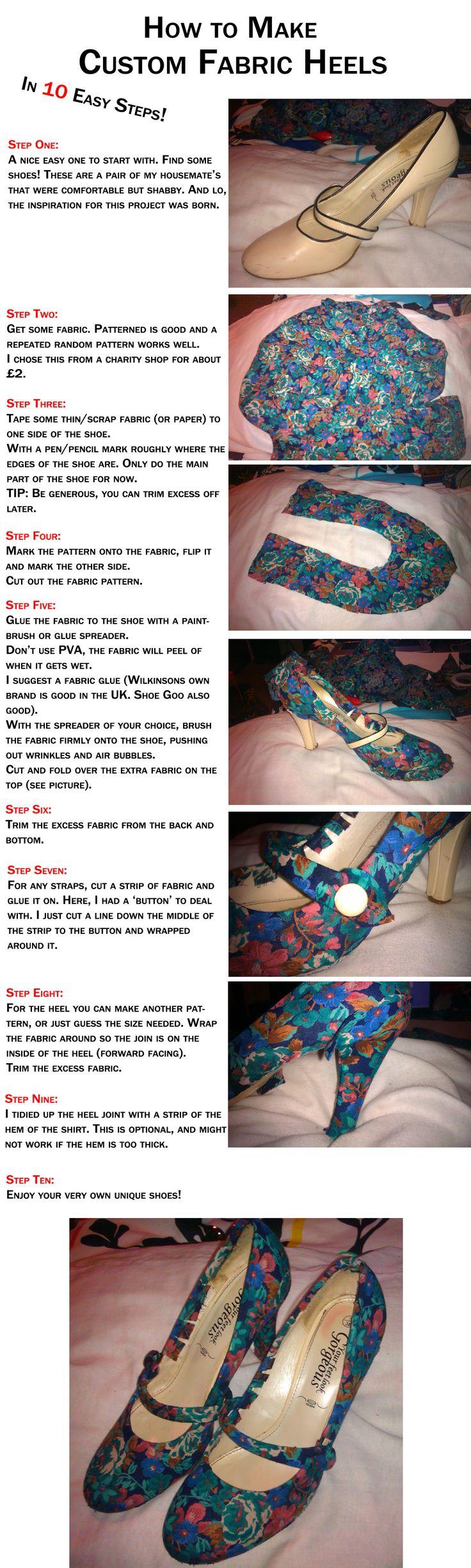 How to Make: Custom Fabric Heels by ~GAME-OVER-CUSTOM on deviantART