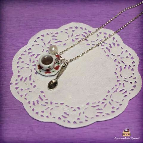 A cup of tea :) Cute necklace