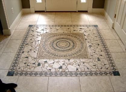 entry way glass mosaic tile art mosaic floor tile floor - Mosaic Tiles