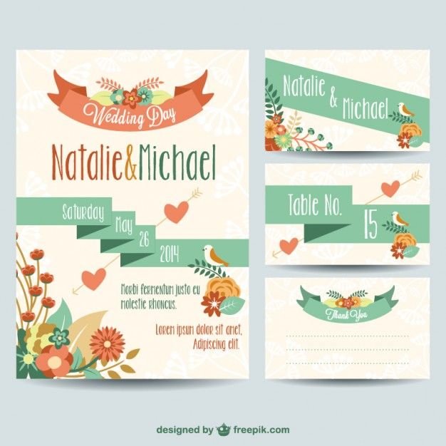 233 best Wedding images on Pinterest Invitations, Vectors and - create invitation card free download