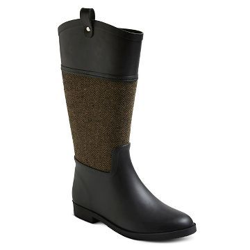 Women's Krissa Equestrian Style Tall Rain Boots - Merona™