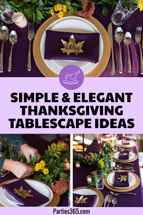 Simple Elegant Thanksgiving Table Ideas Elegant Thanksgiving Table Thanksgiving Table Settings Thanksgiving Tablescapes