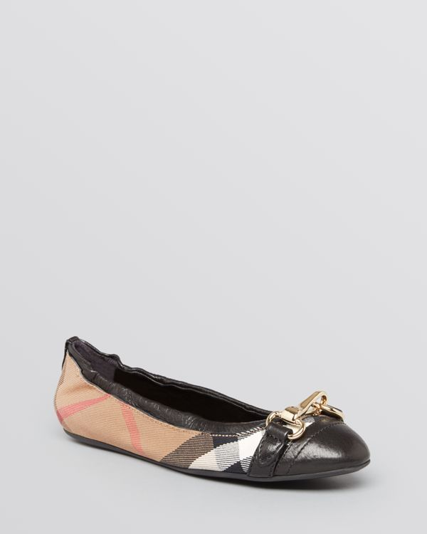 Burberry Cap Toe Ballet Flats - Shipley $350 The black version is much better