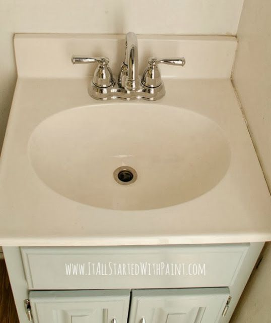 Actually how to paint a fiberglass sink.
