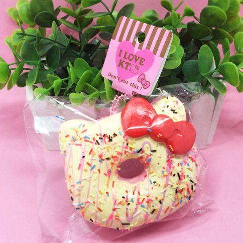 Hello Kitty Squishy Cake And Stand : hello kitty jumbo donut squishy cute kawaii stuff shop birthday cake kawaii new Kawaii ...