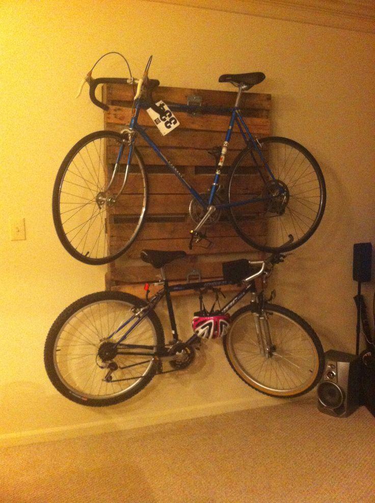 Pallet bike rack! | Pallets | Pinterest | Pallet Bike ...