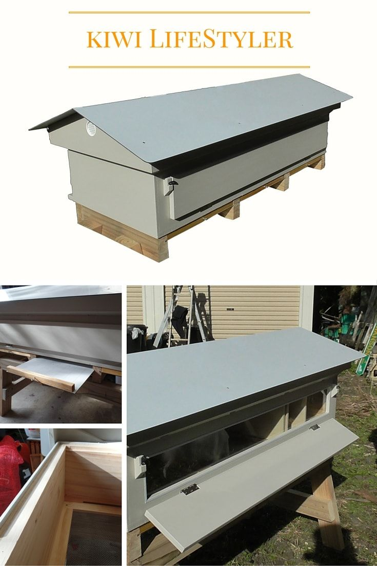 """A Beehive purpose-built to include 'Four Seasons of Beekeeping' in one 'hive-box'. Designed for the keeper of Honey Bees in the 21st Century. Fits Easy to inspect Hoffman style frames. Comes with easily moveable """"divider-boards"""" which are used to change space. via @kiwimana"""