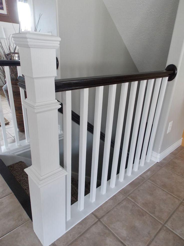 Elegant Stair Newel Post Built Around Builder Grade Banister   TDA Decorating And  Design Featured On
