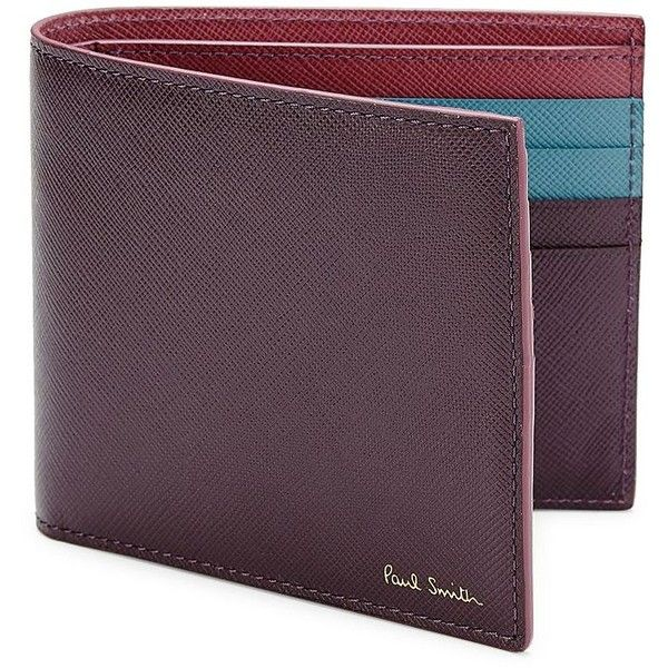 Paul Smith Saffiano Calf Leather Billfold Wallet (11.530 RUB) ❤ liked on Polyvore featuring men's fashion, men's bags, men's wallets, apparel & accessories, paul smith mens wallet, mens wallets, mens credit card holder wallet and mens billfold