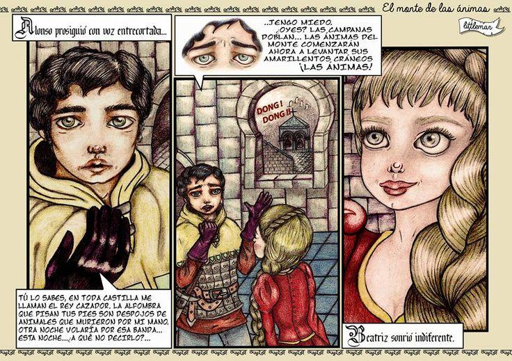 El monte de las ánimas by LittleMar. Colaboración con ExTreBeO  #comic #illustration #artwork #becquer