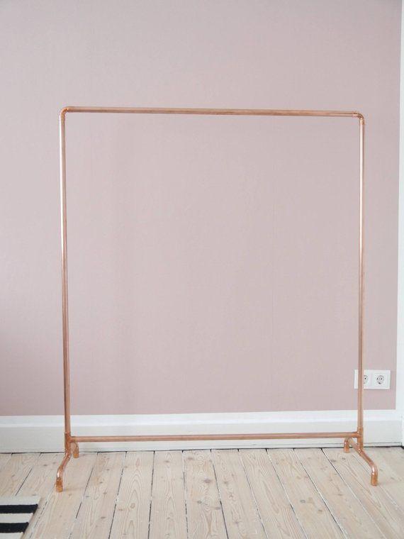 Copper Clothes Rack, Rose Gold Garment Rack