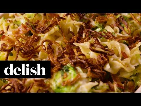 Best Bacon Brussels Sprouts Noodle Bake Recipe - Delish.com