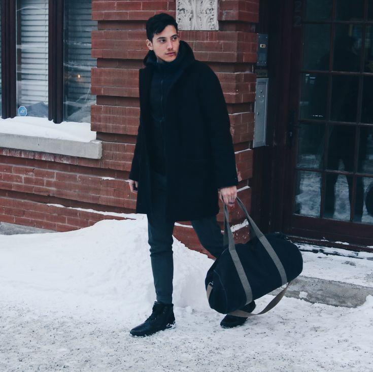 Winter men's look