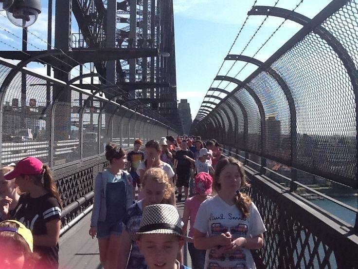 Sydney Excursion- Morning stroll across the bridge.