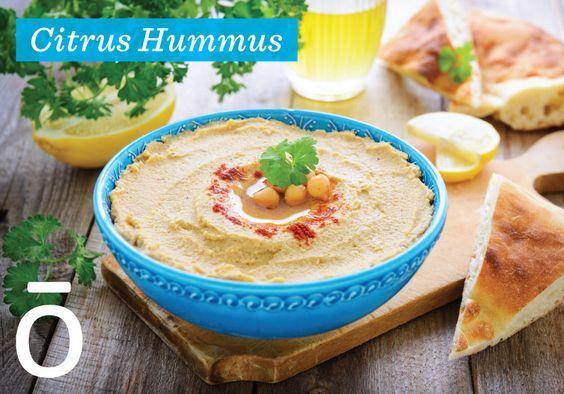 Citrus Hummus ~ with doTERRA Bergamot, Grapefruit and Lime essential oils!