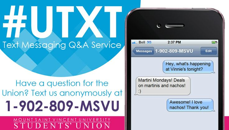 The MSVUSU Text Messaging Service for Mount Students