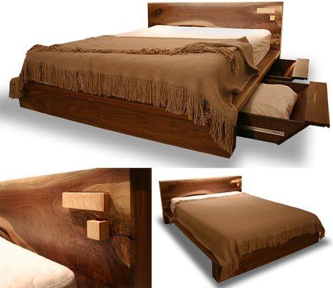 Modern Bed Frame Designs   Rustic Modern  Comfortable Wooden Bed Frame  Design   Designs. Best 25  Wooden bed designs ideas on Pinterest   Wooden storage